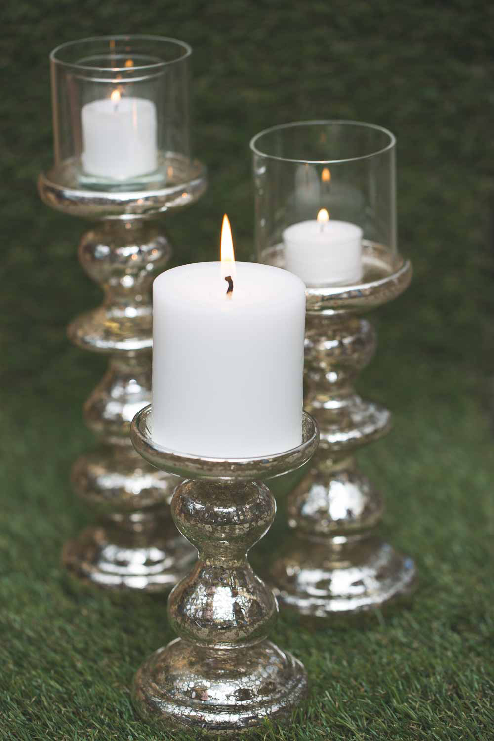 Richland Candle Holder Elegant Mercury Set of 3