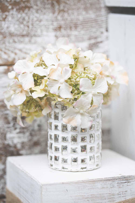Richland Mosaic White Vase
