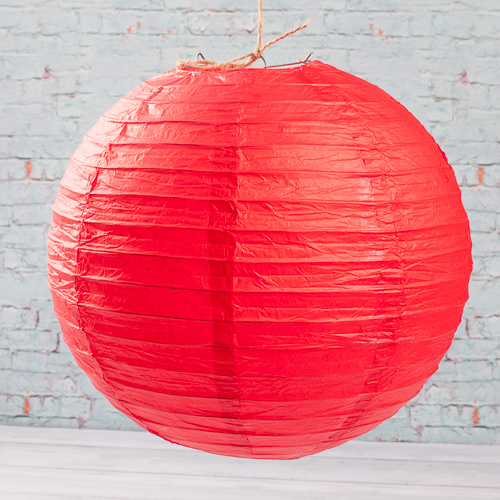 "12"" RED Paper Lanterns (Pack of 10)"