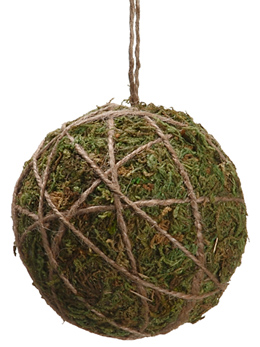 "12- 4"" Moss Ball Ornaments"