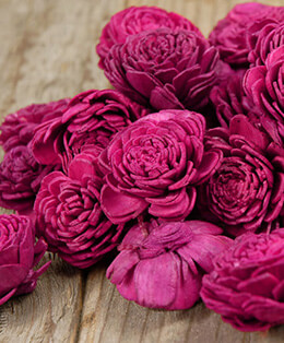 Sola Flowers Bougainvillea Red Shell Flowers (24 flowers/ box )