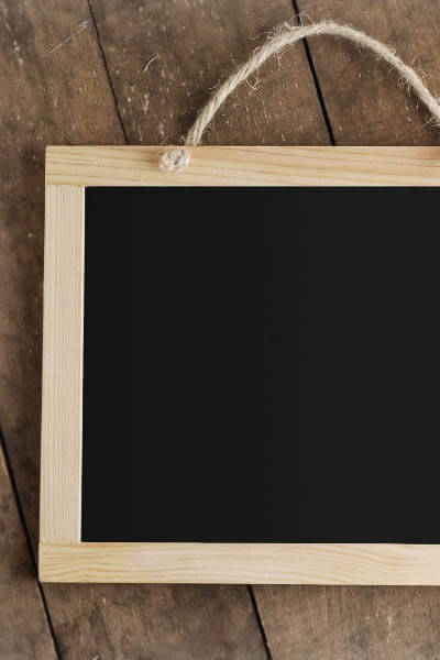 Hanging Wood Framed Chalkboard, 8.5 x 11