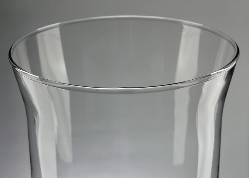 Clear Glass Hurricane Vase 16in