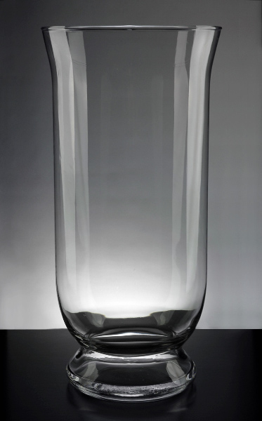 Clear Glass Hurricane Vase 16in