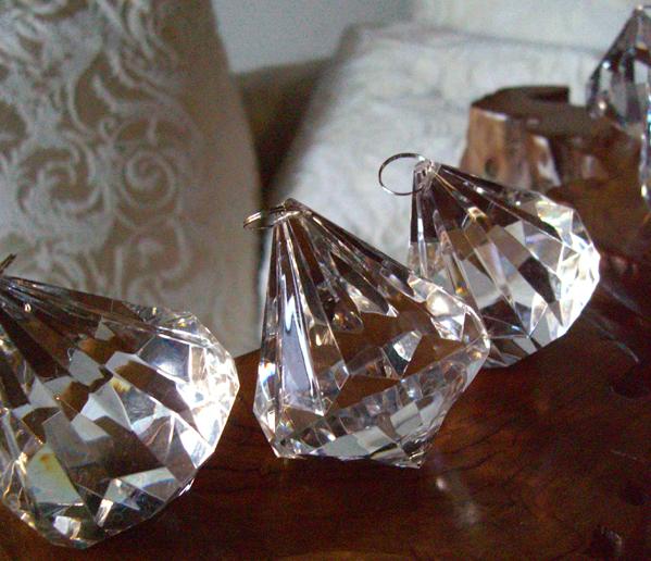 "6 Crystal Chandelier 3"" Diamond Drops"