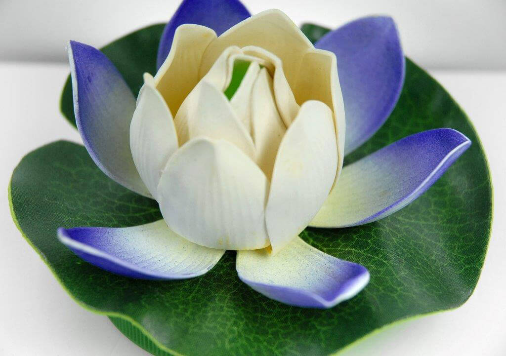 Lily LED Lights Blue & White Floating Flower