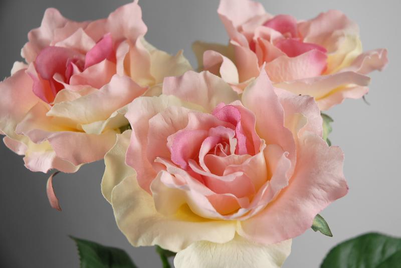 Silk rose pink large pink rose spray 27in large pink rose spray 27in mightylinksfo