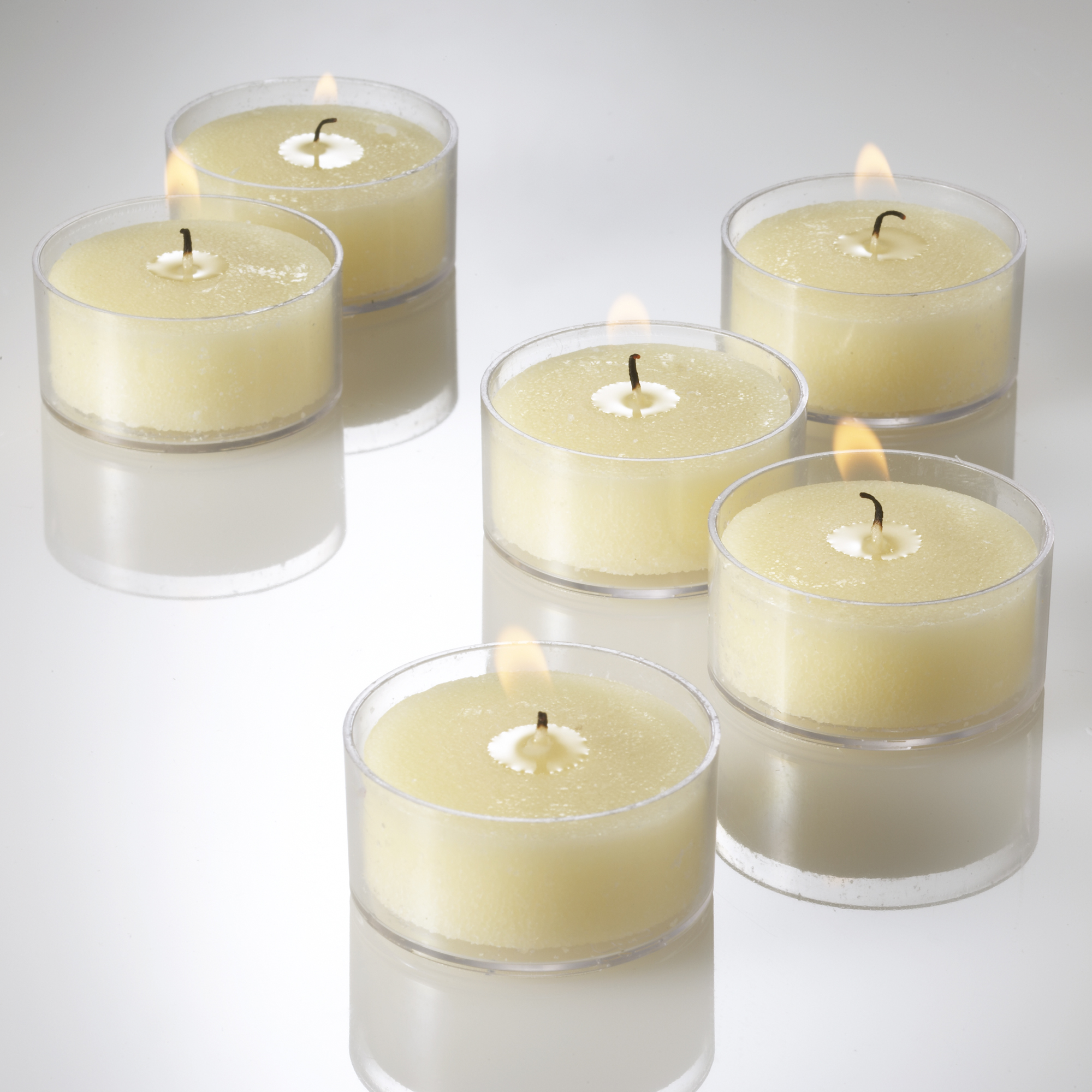 Richland Clear Tealight Candles Ivory Unscented Set of 50
