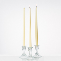 "Taper Candles 14"" Ivory Set of 10"