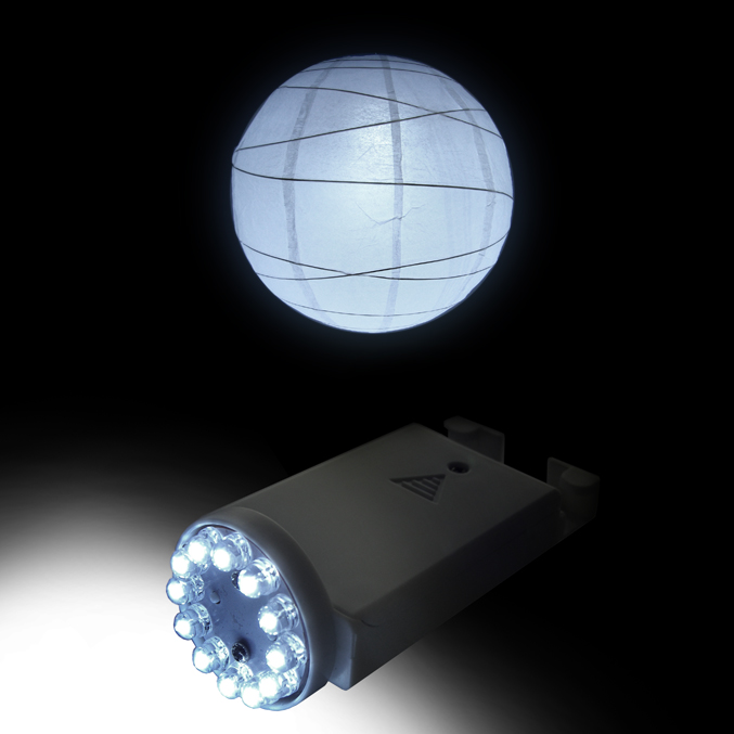 Remote Controlled Paper Lantern Light 12 LED Cool White (remote sold separately) PLL-12W-RC