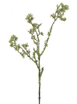 "32"" Green Lichen Covered Artificial Branch"