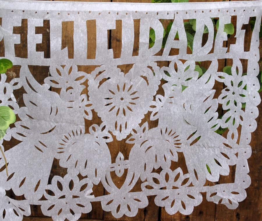 Papel Picado Banner Wedding Large