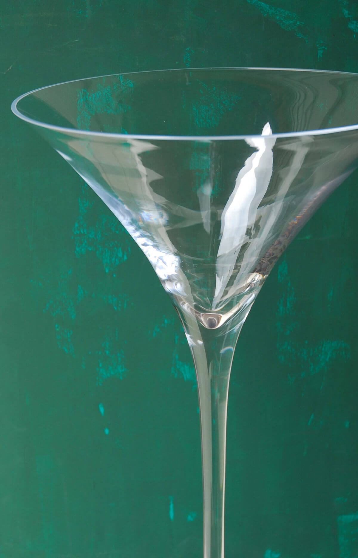 "Tall 27"" Glass Ritz Martini Vase"