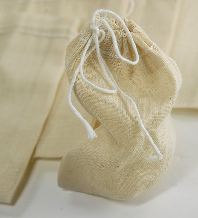 10 Unbleached Muslin Bags 3 x 4