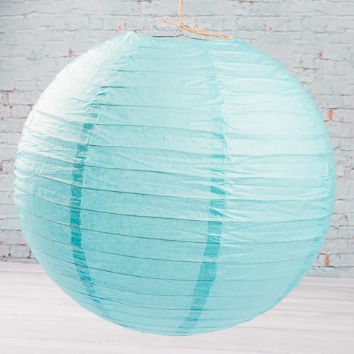 "16"" TURQUOISE BLUE Paper Lanterns Set of 10"