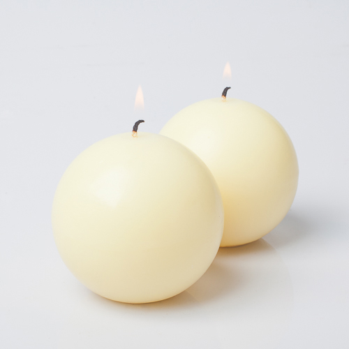 """Richland Sphere Candle 3"""" Ivory Set of 12"""