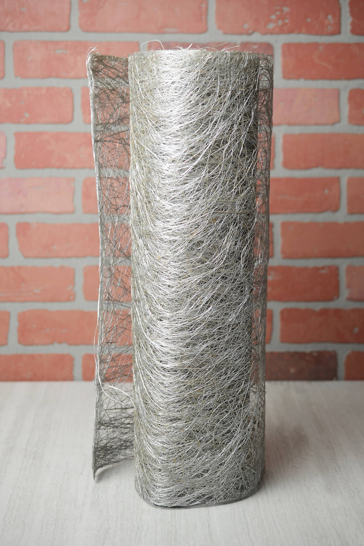 """Silver Abaca Fiber Roll  19"""" Wide x 10yd"""