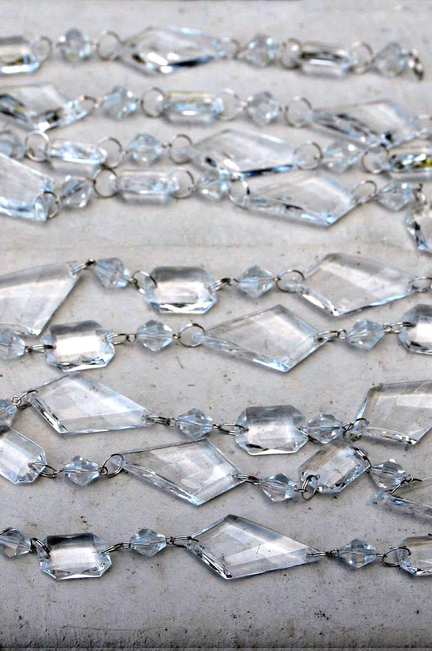 Acrylic Crystal Garland 6ft
