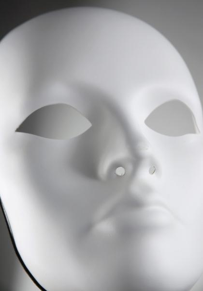 Blank Masks, Full Female Mask, 8-1/2-Inch, White