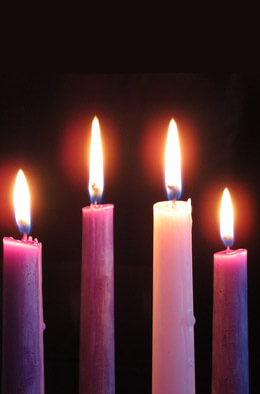 Advent Candles Set of Four Tapers 10""
