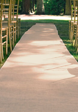 Burlap 100 ft Aisle Runner Natural
