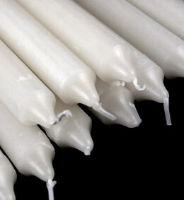 "Formal White Taper Candles 10""  (12 candles)"
