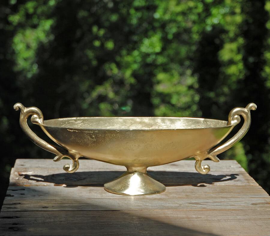 """Golden 16"""" Long  Boat Bowl"""