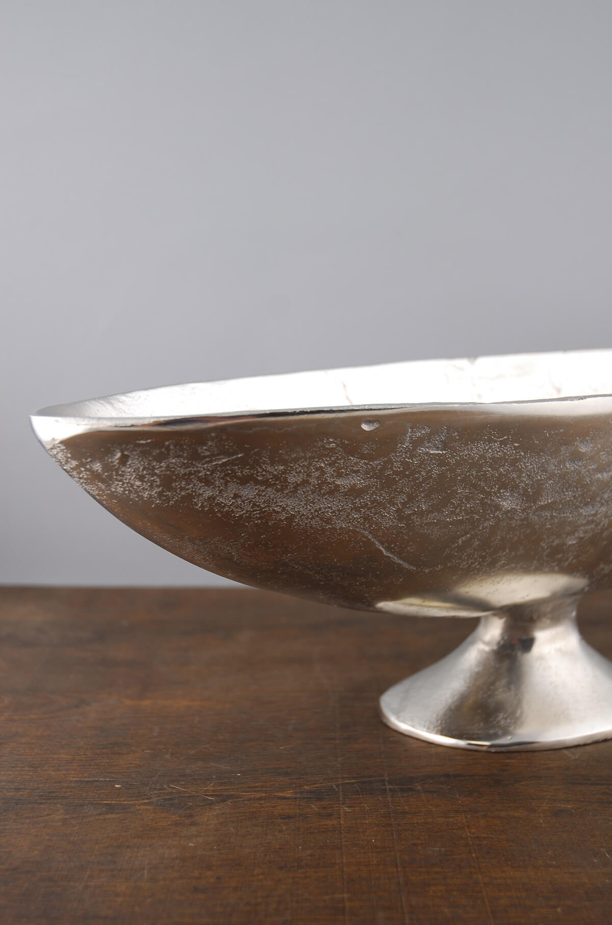 """Large Silver Boat Bowl 17.5"""""""