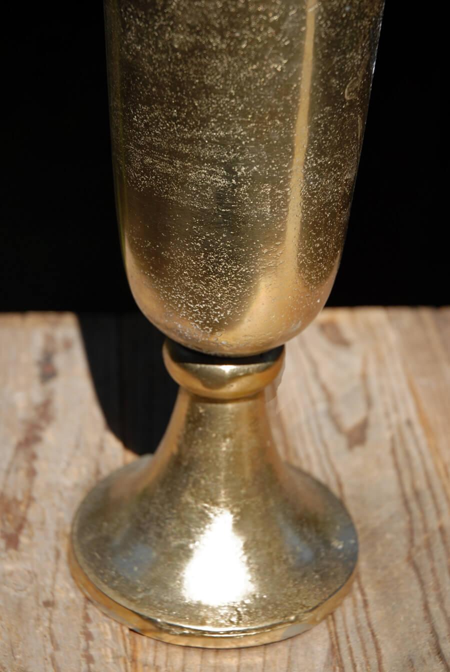 Aluminum Trumpet Vase Gold 23in