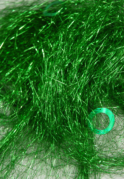 Green Angel Grass Shred Tinsel And Sequins 1 4 Ounce Pkg
