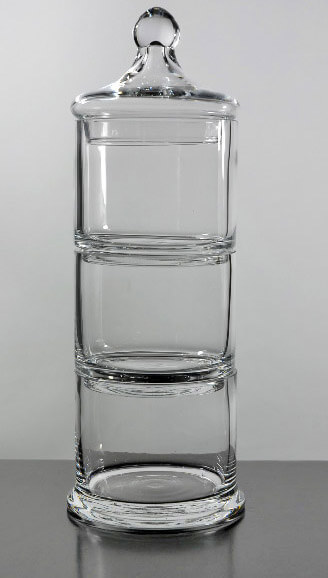 3 Tier Stacking Apothecary Jars 12.5 in.