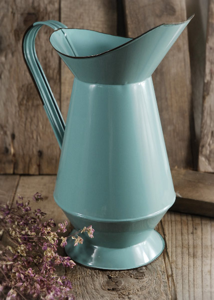 Aqua Blue Enameled 11 Quot Pitcher