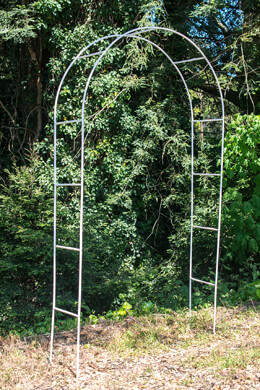 White Metal Wedding Arch  8' Tall