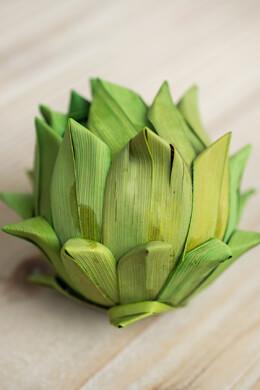 "Handmade Green Palm 3"" Artichokes (6 chokes)"