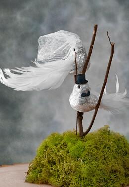 Wedding Birds Bride & Groom with Sequins