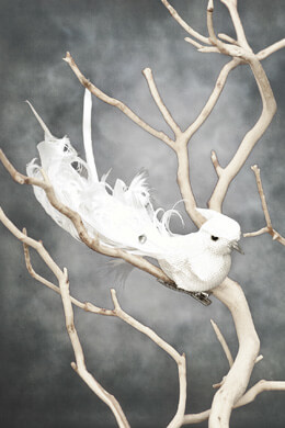 Wedding Birds White Linen (Set of 3)
