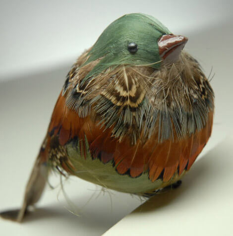 Artificial birds chubby robin with clip for Fake birds for crafts
