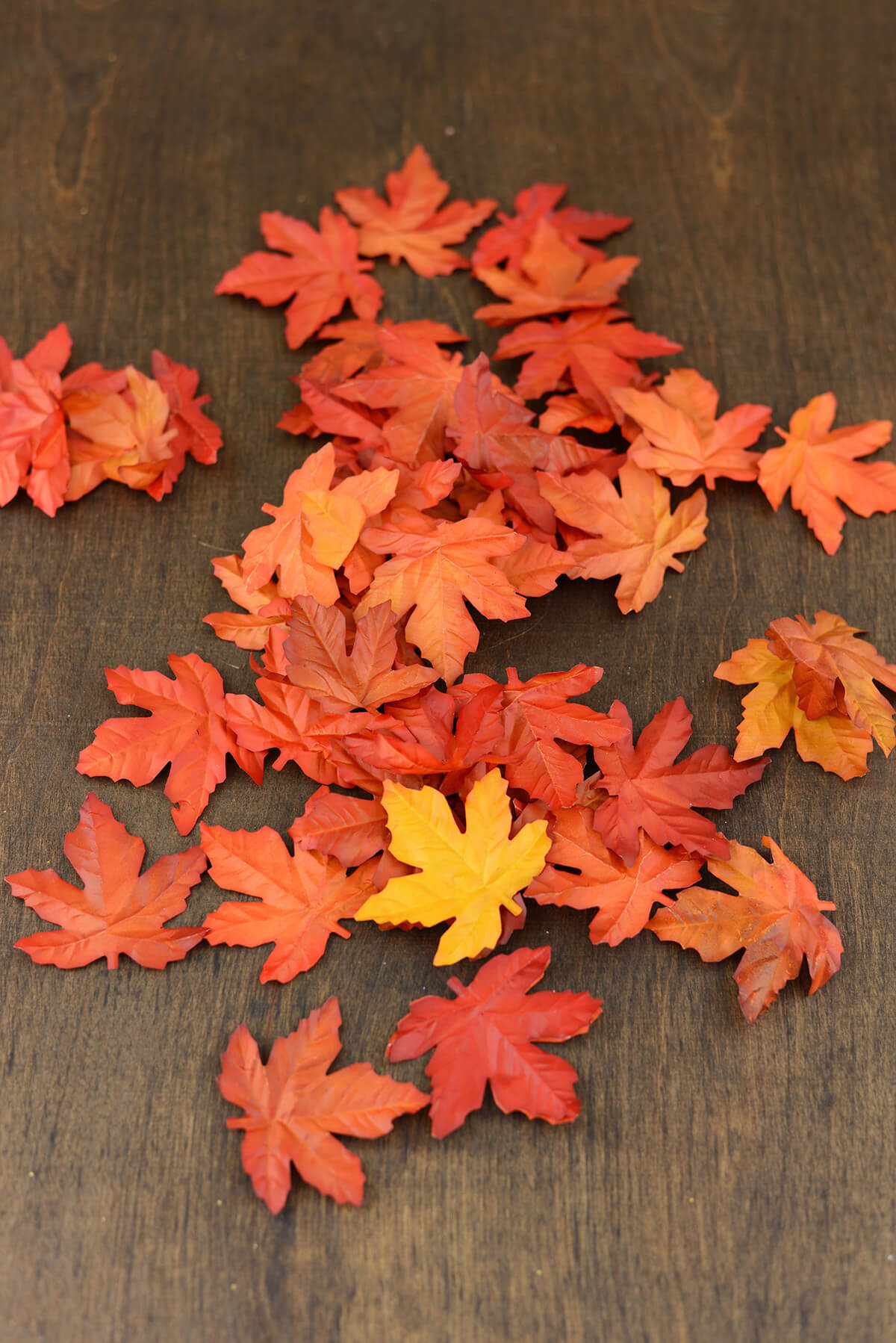 New Fall Artificial Maple Leaves Orange VM28