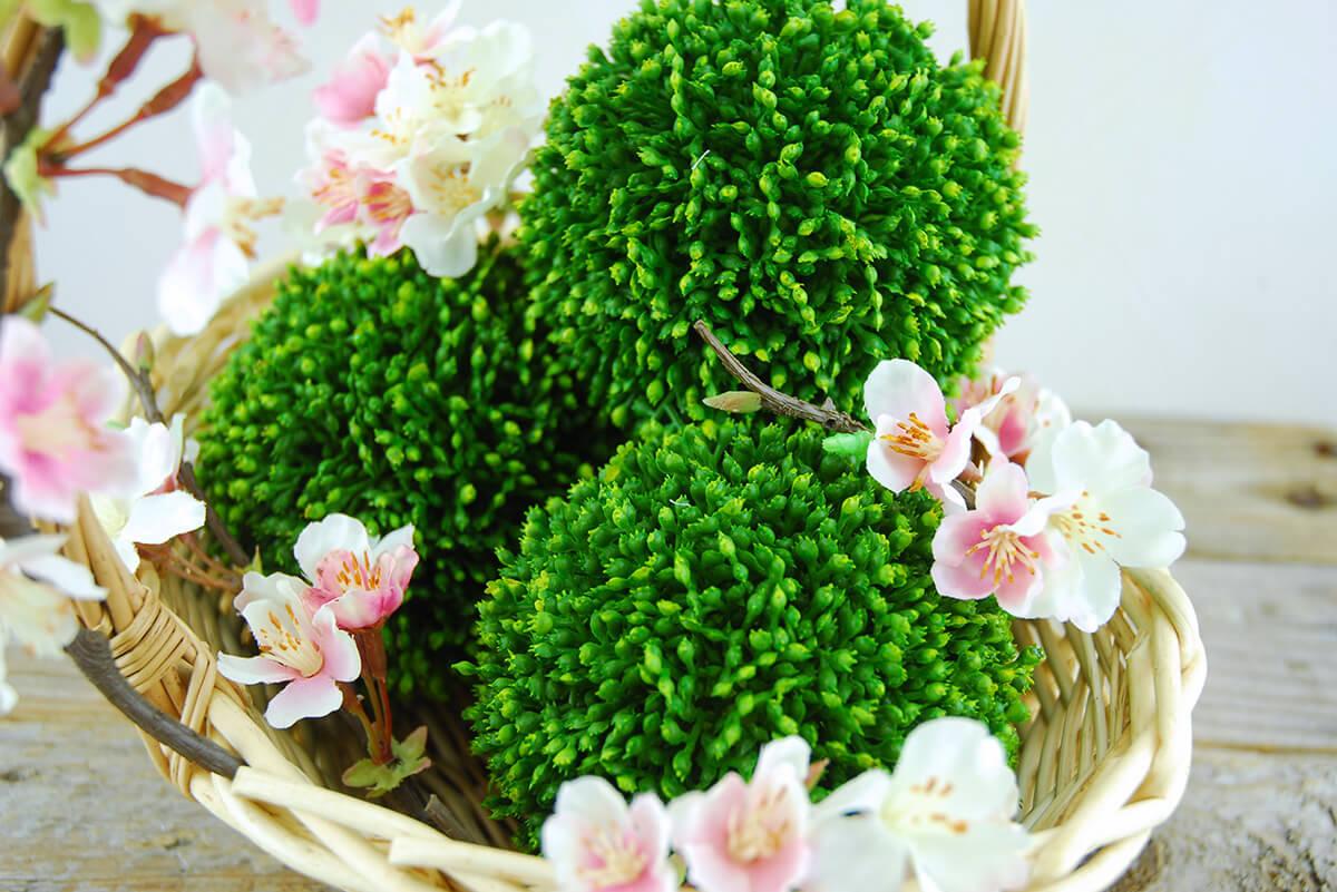 3 Sedum Balls 4in Faux Succulents
