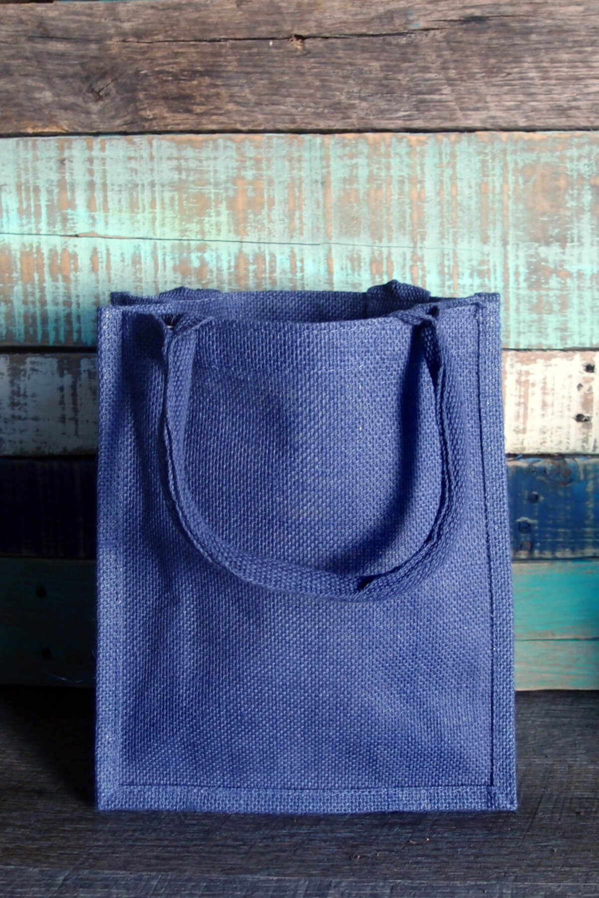 Blue Burlap 11x9 Euro Tote Bag Welcome Bags