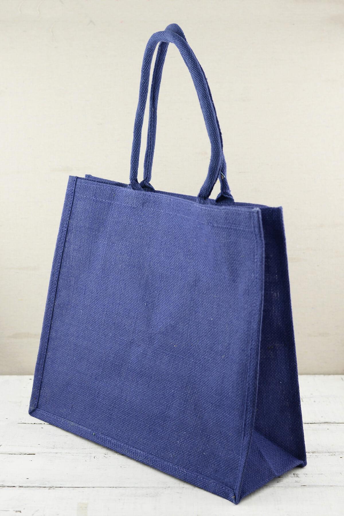Blue Burlap Euro Tote 16x14 Bags