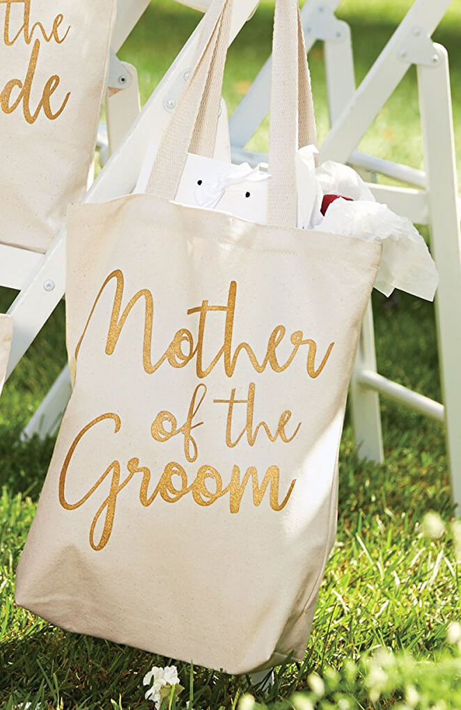 Mother of the Groom Canvas Tote Bag 14""