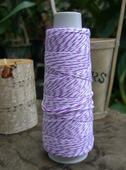 Bakers Twine Purple & White 100 yds