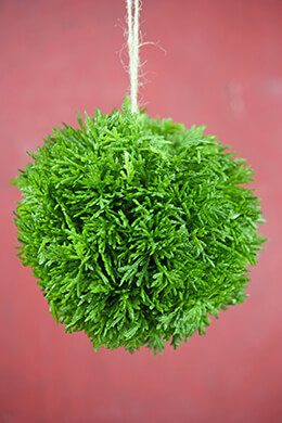 Artificial Cypress Topiary Ball For Indoors & Outdoors 6 Inch