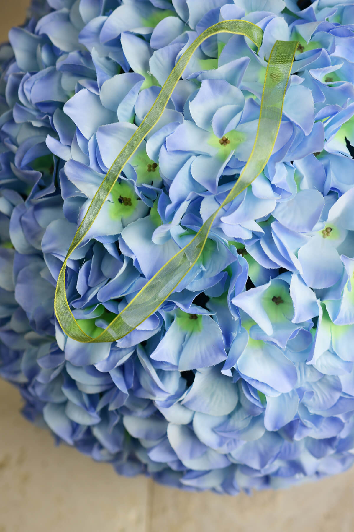 "14"" Blue Silk Hydrangea Balls, Hanging Decorations, Wedding Flowers"