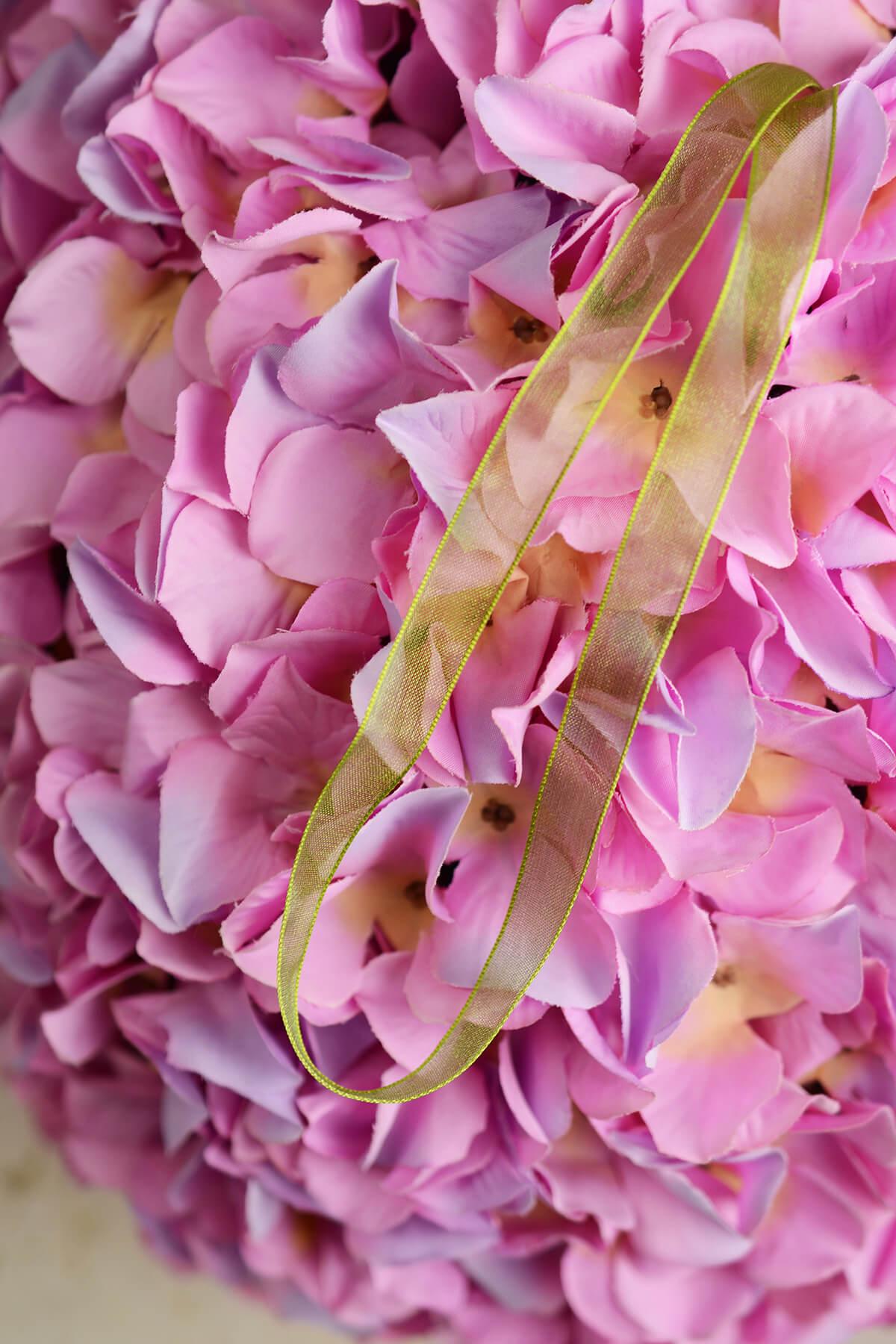"14"" Pink & Purple Two Tone Silk Hydrangea Balls, Hanging Decorations, Wedding Flowers"