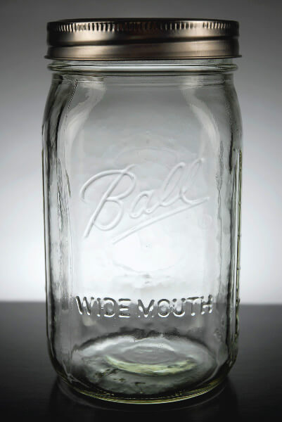Wide Mouth Quart Size Mason Jars Case Of 12