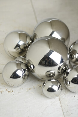 9 Abbott Steel Decorative Balls