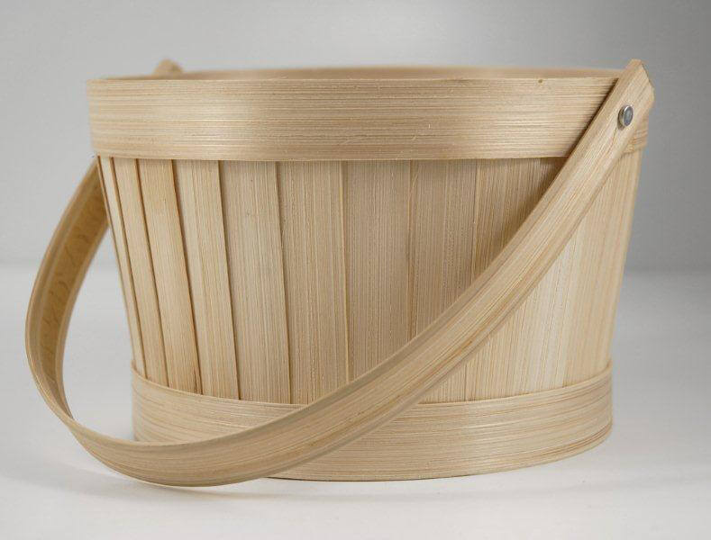 Bamboo Basket Making Supplies : Bamboo basket quot with swivel handle