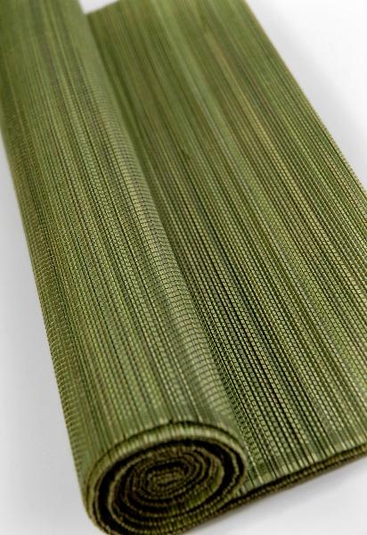 Olive Green Matchstick Bamboo Runner 13x72
